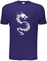 Tribal Dragon Tattoo gothic style Ladies Skinny & Mens Unisex fit Size Small - XX-Large