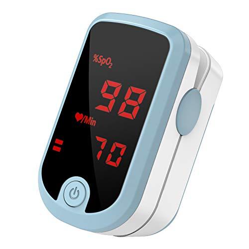 Pipishell Pulsoximeter Sauerstoffsättigung Messgerät Finger im Blut SpO2 und Pulsfrequenz mit großem LED-Bildschirm