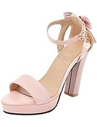 Coolcept Mujer Moda Lazo Heels Sandalias  Zapatos de moda en línea Obtenga el mejor descuento de venta caliente-Descuento más grande
