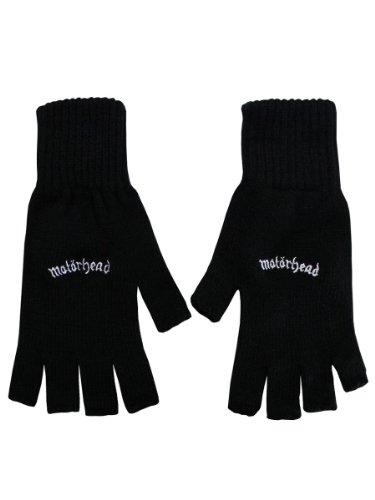 Ace-baumwolle Handschuhe (Motörhead Logo Fingerlose-Handschuhe schwarz)