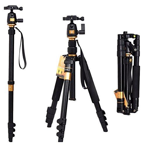 Tragbar Einbeinstativ Neue Typ Q668SLR Kamera Multifunktionale Reisefotografie Stativ Fluidkopf Stativ-Set (Tragbare Tisch-projektor-bildschirm)