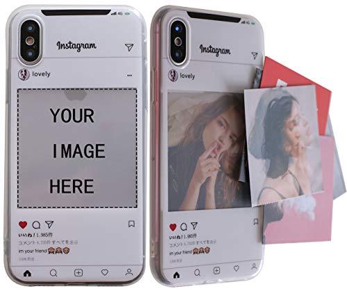 Bild iPhone 8Fall, Persönlichen Custom Bild Telefon Fall, Erstellen Sie Ihre eigenen Foto Instagram case-Shock Stoßdämpfender TPU PC Displayschutzfolie Slim, der Fall für iPhone 7, iPhone X