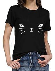 Yvelands Clearance Women Girls Plus Size Print Tees Shirt Short Sleeve T Shirt Blouse Tops