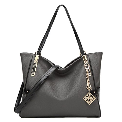 Borse In Rilievo Tracolla Big Bag Ladies Selvatici Messenger Grey