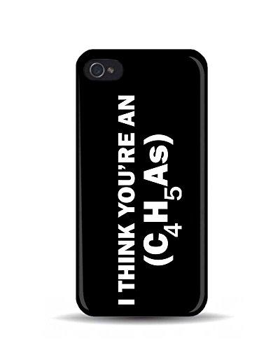 """iPhone 5/5S """"I Think You're un-Humour Geek 3D Coque téléphone portable"""