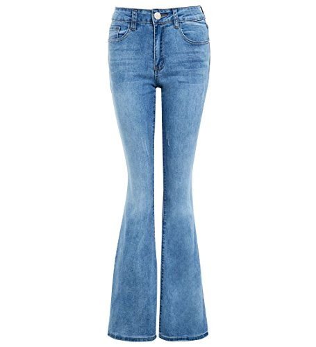 Womens Denim Jean Flare Flared Stretch Bootcut Jeans Size 6 8 10 12 14 16 New Damen Stretch Flare Jeans