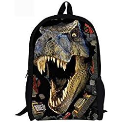 Estudiante Mochilas Gran capacidad Impresión 3D Dinosaurios Mochila Bolsa de escuela , 5542c