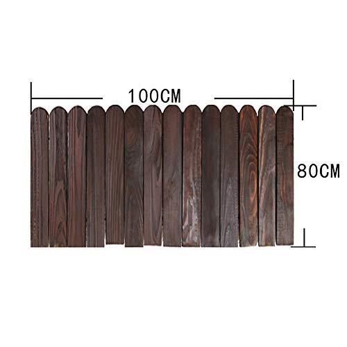 JIANFEI-weilan Holz Zaun Gartentor Gartenzaun Steckzaun Außendekoration Tierleitplanke Pflanzenbarriere Wasserdicht, 8 Größen, 2 Arten (Color : B-Brown, Size : 80x100cm)