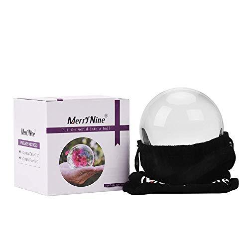 MerryNine K9 Kristallkugel mit Tasche, K9-Kristall-Sonnenfänger-Kugel mit Mikrofaser-Beutel, dekoratives und Fotografie-Zubehör (80 mm, mit Tasche)