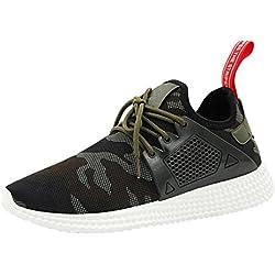 Amlaiworld Zapatos de hombre zapatillas deportes hombre running Zapatillas deportivas para hombre Botas Zapatos de camuflaje (Verde, EU 43/ CN 44)