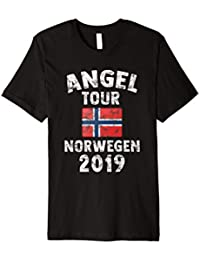 NORWEGEN 2019 - Angel Tour nach Norway mit Flagge T-Shirt