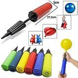 Wss, pompa leggera, a mano, ideale per gonfiare palle da palestra, palle per esercizi, palloni e cavalli gonfiabili, per bambini e ragazzi