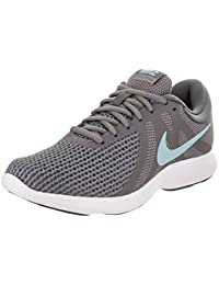 Nike Damen Revolution 4 Traillaufschuhe, Grau (Gunsmoke/Ocean Bliss/Dark Grey/White/Black), 38.5 EU