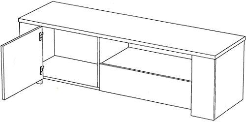 Lowboard Fumio 2 Eiche natur Nachbildung Steinoptik 138x41x40cm TV-Möbel Wohnzimmer Wohnwand Schrankwand - 5