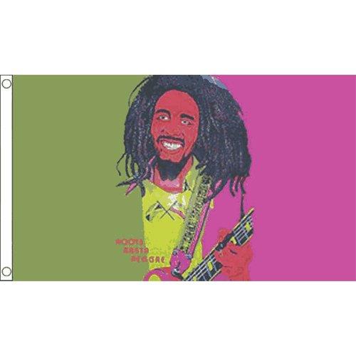 Bob Marley (Gitarre) Flagge 5ft x 3ft Karibik Jamaika Rasta Reggae Banner New (Karibik-boys)