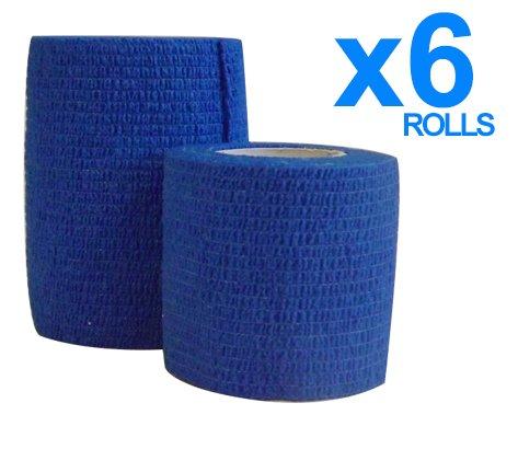 lot-de-6-rouleaux-de-bande-de-contention-elastique-bleu-75-cm-x-45-m