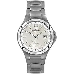 Dugena Herren-Armbanduhr Titan Analog Quarz Titan 4460530