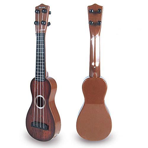 DANMEI Mini Ukelele Retro Guitarra Juguete Simulación Madera Grano para Niños Interés Entrenamiento