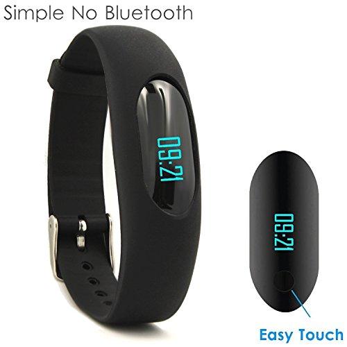 Yamay Fitness Armband Schrittzähler Armbanduhr Aktivitätstracker Ohne Bluetooth mit Zeit,Dtum,Schrittzähler,Kalorienzähler,Entfernungsrechner,Schlafmonitor für Damen Kinder Herren Ohne APP Handy