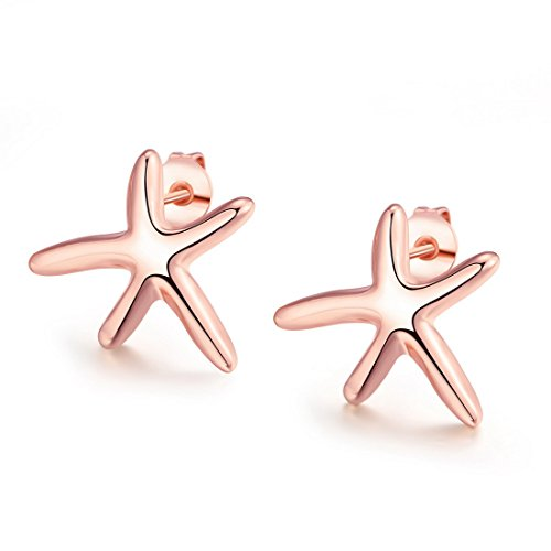 souarts-women-rose-gold-color-starfish-shaped-stud-earrings