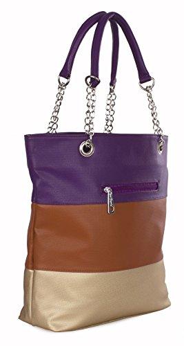 Big Handbag Shop, Borsa a mano donna Taglia unica Design 1