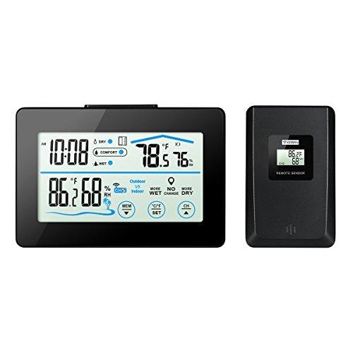 Oria Weiße Hintergrundbeleuchtung Thermometer mit Indoor und Outdoor Feuchtigkeit Display & LCD - Touchscreen