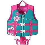 Zeraty Kids Swim Vest Giubbotto salvagente per Bambini con Cinghie di Sicurezza Regolabili età 1-9 Anni / 22-50 lbs/Rosa
