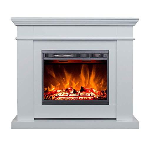 Chimenea eléctrica Glow Fire Poseidon, clásica chimenea de pared eléctrica (calefactor de...