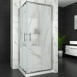 Elegant 760 x 760 mm Sliding Doors Corner Entry Shower Enclosure Easy Clean Glass Screen Cubicles