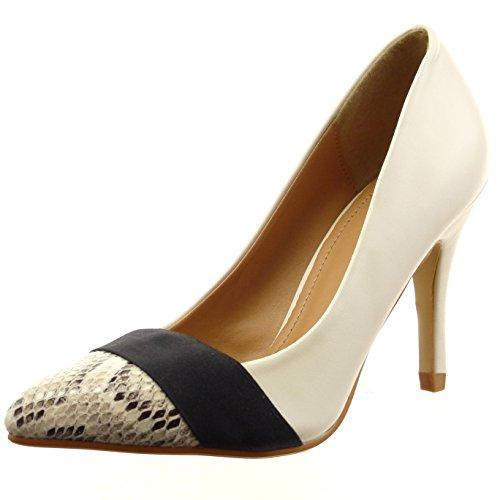 Sopily Chaussures Mode Peau De Serpent De Talon De Chaussure De La Cheville Derby Femme Talon Largeur De 3 Cm - Persimmon Frf-6-q117 T 39 dvVlqJvL3p
