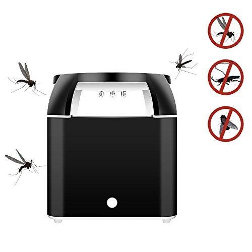 Umiwe 6 LED Violet Lichter Bug Zapper, Tragbare Rauschunterdrückung Fliegenfalle Killer ungiftig USB Wiederaufladbare Moskito-Mörder Wasserdicht Fallen Indoor Outdoor Fliegenfänger (Schwarz)
