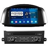 Roverone Quod Core Android System 8 Zoll Autoradio GPS für Renault Koleos mit Navigation Radio Stereo DVD Bluetooth SD USB Spiegel Link Touch Bildschirm