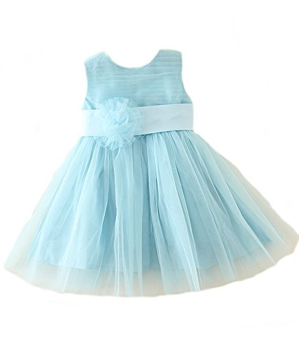 Girls Kids Blue, Lilac Flower Formal Wedding Bridesmaid Party Christening
