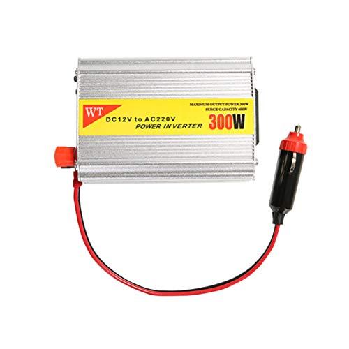 Laduup 300W KFZ Wechselrichter Auto Fahrzeug Wechselrichter mit USB Anschlüsse, Zigarettenanzünder-Adapter DC 12V zu 220V AC 2.1A (Silver 1)
