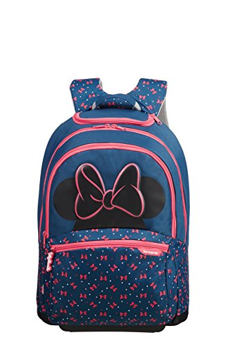 Samsonite Disney Ultimate 2.0 Children'S Zaino With Wheels 49 Cm, 22 L, Multicolore (Minnie Neon)