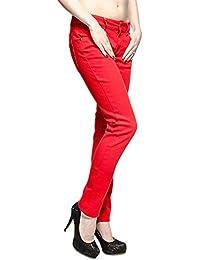 Bleeding Heart Plain Skinny Fit Jeans (Red)