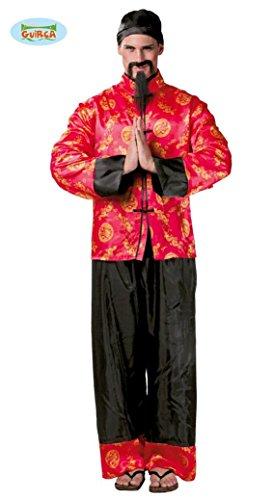 Kostüm Chinese Mandarin - Mandarin Chinese - Kostüm für Herren Karneval Fasching Party China Kaiser Gr. M/L, Größe:M