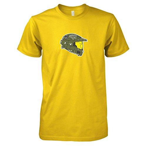 TEXLAB - Master Chief - Herren T-Shirt, Größe XXL, gelb (Master Chief Helm Kostüme)