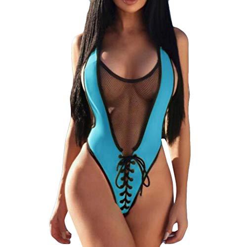 8d5e9bf1c3a09 Bademode Badeanzug Sport Bikini Damen High Waist Push Up BH Bandeau,Sexy  Brazilian Retro Triangle