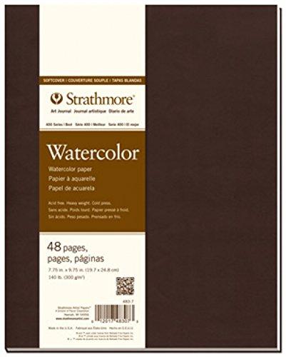 Pro-Art Strathmore Aquarell-Heft mit 24Blatt Aquarell-Papier, Taschenbucheinband, 19,7x 24,8cm
