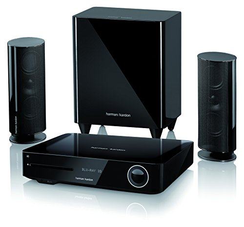 Harman Kardon BDS 485S Heimkino-System 2.1-Kanal, 330 Watt, 4K Blu-Ray Disc-System mit Spotify Connect, AirPlay und Bluetooth-Technologie - Schwarz