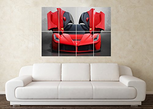 Large Ferrari SuperCar Sports Car Wall Poster Art Picture Print Part 60
