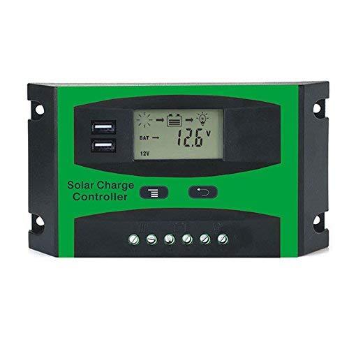 LEXPON 30A 12V 24V Solarregler LCD Funktion Dual USB 5VDC Ausgang Solarzellen Panel Batterieladeregler
