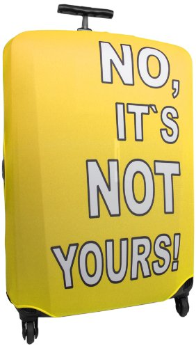 HAUPTSTADTKOFFER – Reise Gepäckgurt I Kofferüberzug aus Polyester/Lycra I Kofferhülle I Kofferschutzhülle 52905775 I Größe M I Farbe: Gelb (Der Gelbe Abdeckung Knopf)