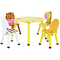 Bentley Kids Jungle Safari Wooden Table & 2 Or 4 Chairs Set Children'S Bedroom Playroom Nursery Furniture