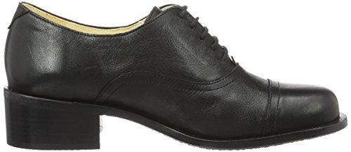 John W. Shoes Damen Petra Oxford Schwarz (Negro)