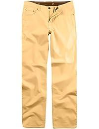 JP 1880 Herren große Größen bis 66 | Hose | Chino Hose aus Baumwolle | 5-Pocket-Schnitt | Elastik-Komfort | Stretchhose mit elastischen Bund | Regular Fit | gelb 66 705253 60-66