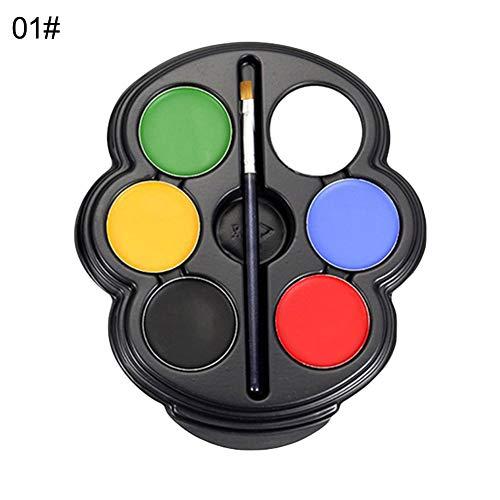 le Gesicht & Körper Ölgemälde Pigment 6 Farben Körperbemalung Palette UV Glowing Face Painting Tätowierung Pigment 1# ()