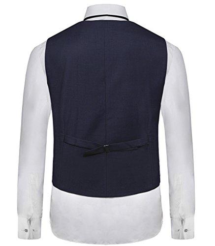 Hanayome - Gilet - Blouson - Col Chemise Classique - Sans Manche - 100 DEN - Homme Bleu