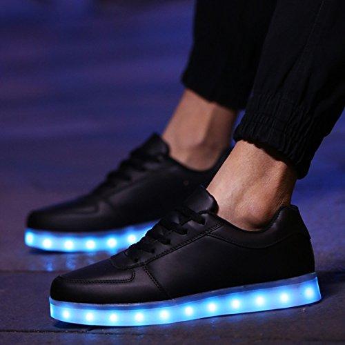 Dogeek Scarpe Da Donna Bambino Portato 7 Colori Usb Led Cambiamento Di Bambini Di Colore Sneaker Sneakers Uomini Donne (su Prenotazione Un Numero Più Grande) Nero Carica Scarpe Sportive Luminose